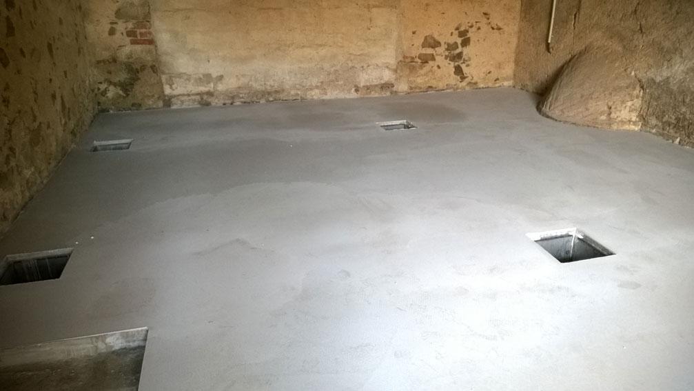 herstellung eines betonfussboden frank werrmann. Black Bedroom Furniture Sets. Home Design Ideas
